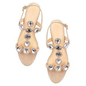 Charlotte Olympia Semi-precious suede sandal 35.5